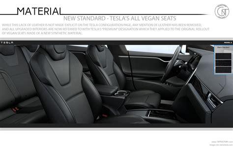 tesla vegan new standard teslas vegan seats automotive color trim