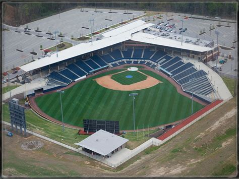aerial view  coolray field home   gwinnett braves