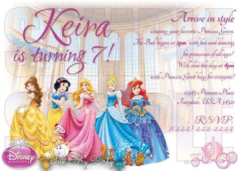 disney princess 1st birthday invitations disney princess 1st birthday invitations best ideas