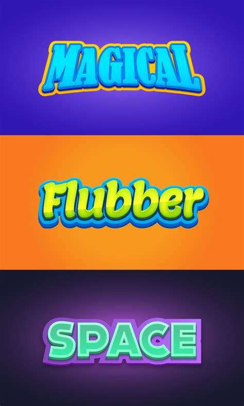 3 Illustrator Graphic Styles Vol 3 Graphicburger 3d Text Illustrator Template