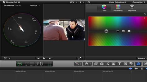 final cut pro vs after effects transitions color correction and audio sweetening in