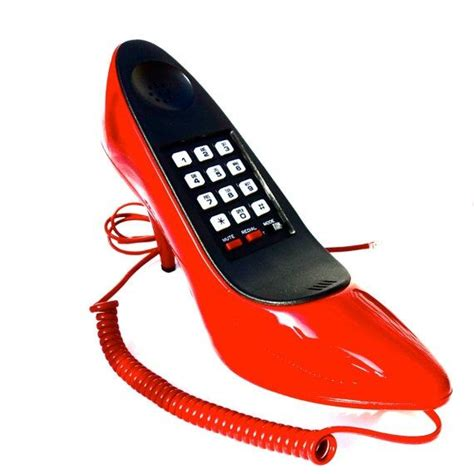 phones shoes high heel phone telephones