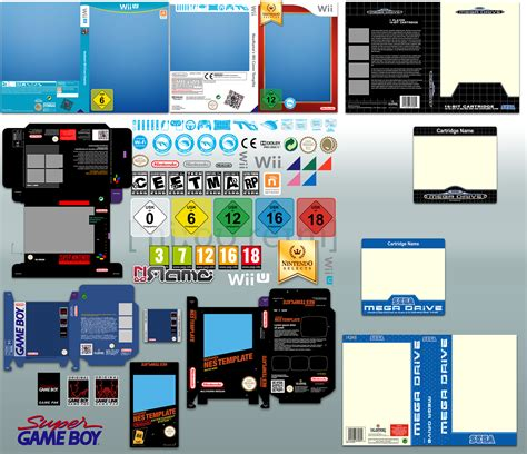 Vector Game Cover Templates V6 By Neorame On Deviantart Gameboy Label Template