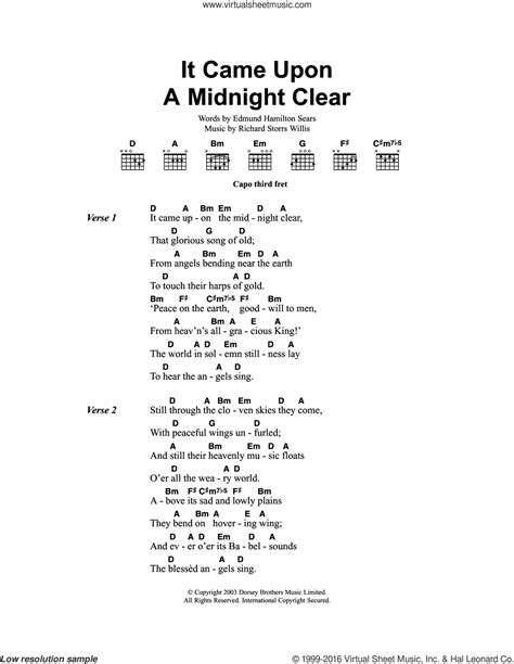 It Came With Upon Midnight Clear By Suzanne Brockman willis it came upon the midnight clear sheet for guitar chords