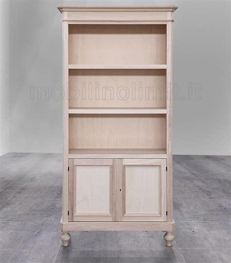 mensole legno grezzo libreria a giorno con mensole e 2 ante grezzo