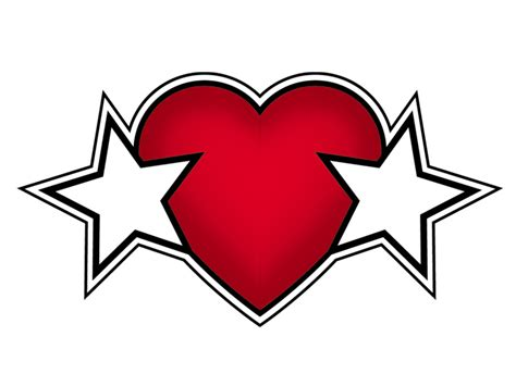 heart and stars clipart best