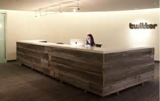 Front Reception Desks Reclaimed Wood Reception Desk