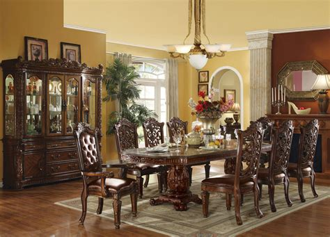 vendome traditional formal dining room cherry finish vendome in cherry finish dining set usa furniture warehouse