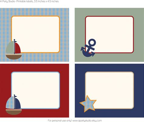 nautical themed names free sailboat printables buffet favors and birthdays