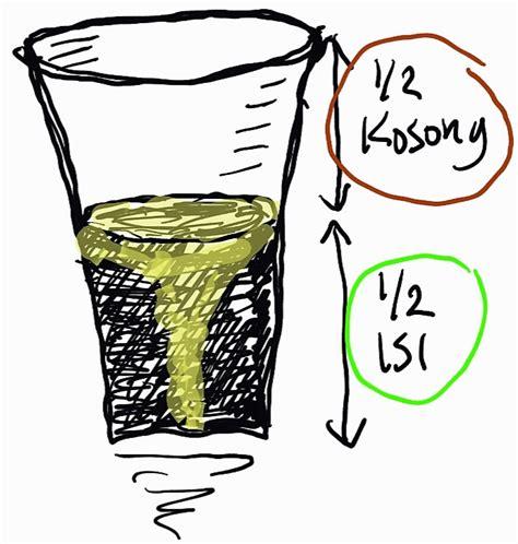 12 Isi 12 Kosong gelas setengah kosong setengah isi zeembry