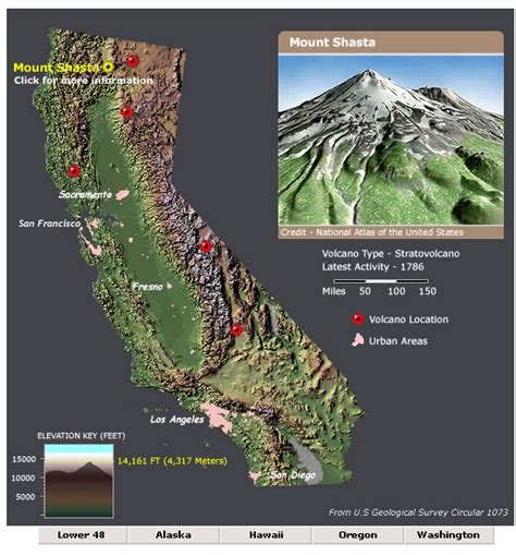 map of california volcanoes are there volcanoes in california if so which volcanoes