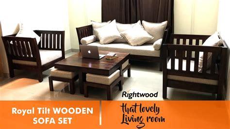 sofa set design royal tilt wooden sofa  rightwood