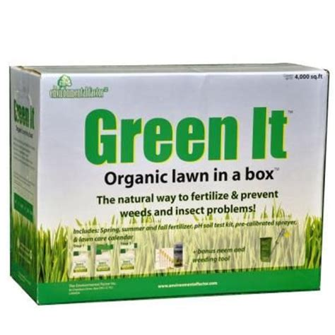 green it organic lawn in a box 2x4 4lb liquid corn gluten