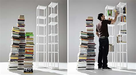 librerie moderne in legno stunning libreria design totem in legno set with