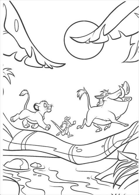 Dibujos para colorear: El rey león imprimible, gratis