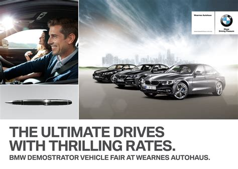 bmw ads 2016 ad get low financing packages on demonstrator bmw