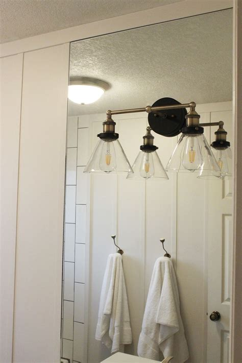 Mounting A Light Fixture with How To Mount A Light On Top Of A Mirror Bathroom Vanity