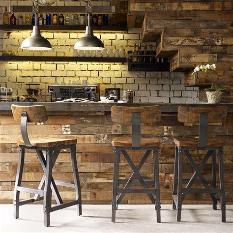 Cheyenne Furniture Bar Stools cheyenne rustic industrial bar stool w optional back