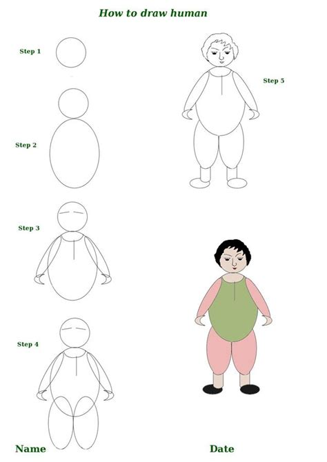 how to draw human doodle how to draw a human