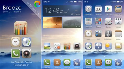 360 launcher themes pack breeze emui 2 3 theme for 360 launcher by duophased on