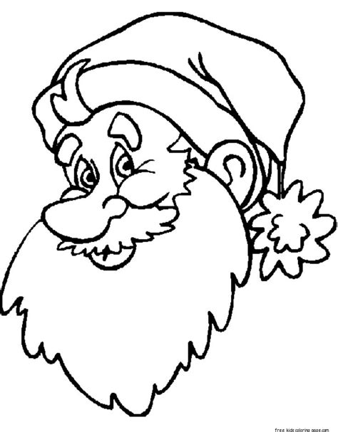 large santa coloring page print out big santa face coloring sheet for kidsfree