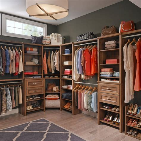 closetmaid closet kit closetmaid impressions 25 in w walnut deluxe hutch