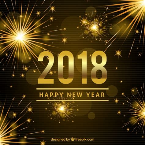 new year 2018 vector bright new year 2018 background vector free