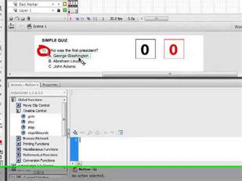 tutorial flash quiz flash tutorial creating a quiz youtube