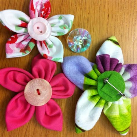 Fabric Handmade Flowers - how to make handmade fabric flowers www imgkid the
