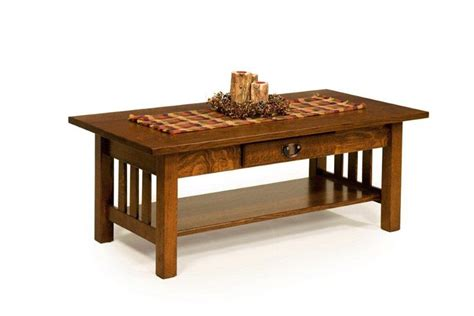 Amish Classic Mission Rectangular Coffee Table Classic Coffee Tables