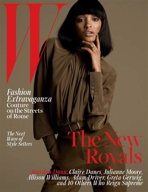 2015 w magazine cover october the new royals jourdan dunn covers w magazine october 2015