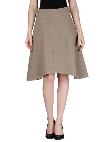carven knee length skirt in khaki lyst