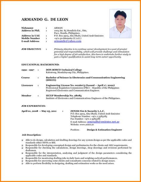 Curriculum Vitae Sle In Philippines Resume Format Philippines Free Resume Ixiplay Free Resume Sles