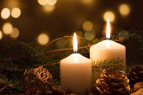 christmas candle lights interiors design