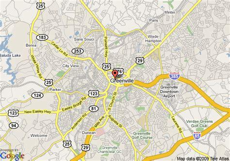 greenville sc map greenville south carolina map images