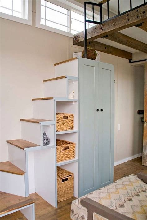 smart tiny house loft stair ideas tiny house loft