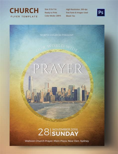 free church templates for flyers church flyers 26 free psd ai vector eps format