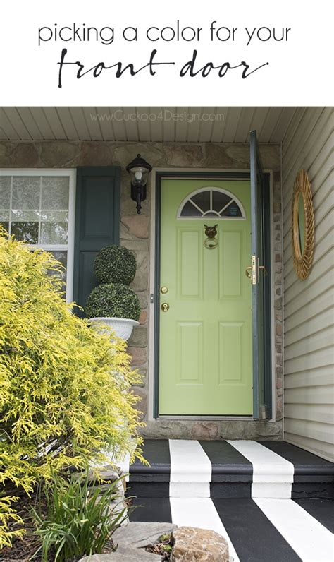 picking   color  painting exterior doors