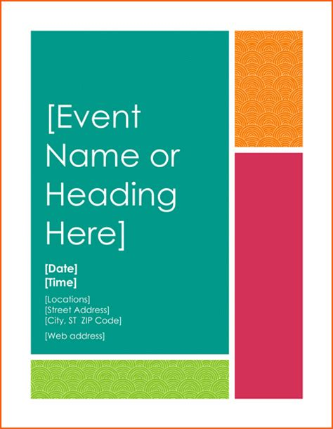 event flyer template word 8 event flyers templates bookletemplate org