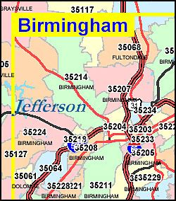 Birmingham Zip Code Map by Alabama Zip Code Map Including County Maps