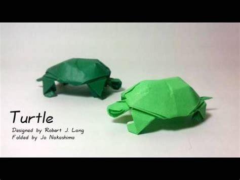 Easy Turtle Origami - how to make an origami turtle designed by robert j lang
