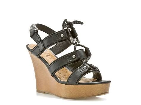 dsw black sandals g by guess farrens black wedge sandal dsw