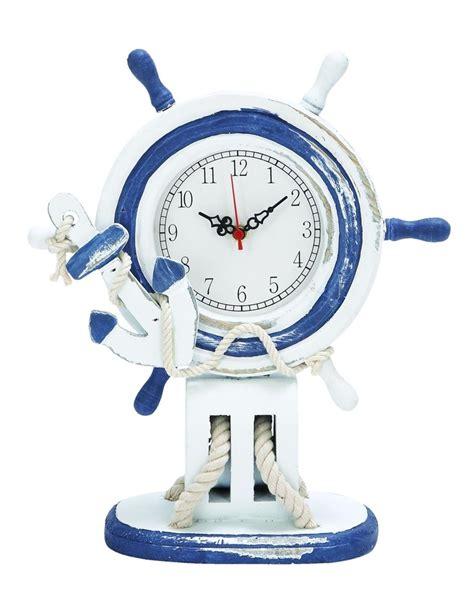 Nautical Desk Clocks by Benzara Nautical Ships Wheel Table Clock For The Home