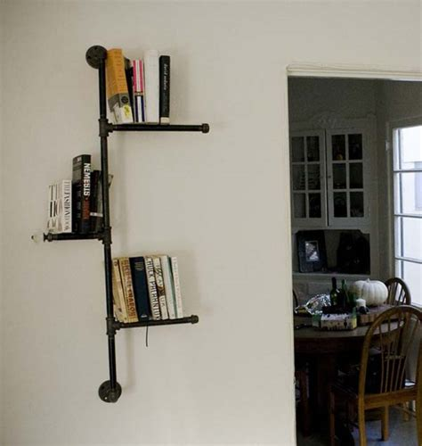 decorative industrial pipe shelving from bills