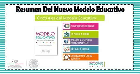 modelo educativo inicio resumen del nuevo modelo educativo educaci 243 n primaria