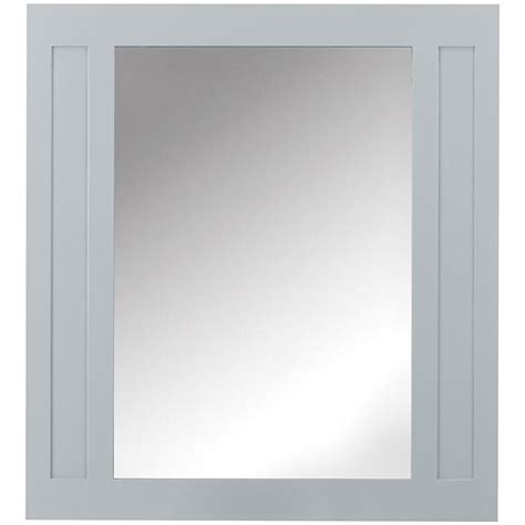 Home Decorators Mirror Home Decorators Collection Aberdeen 33 In W X 36 In H Wall Mirror In Dove Grey 8104500270