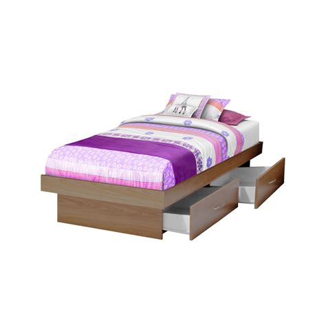 twin storage platform bed with 4 drawers contempo space