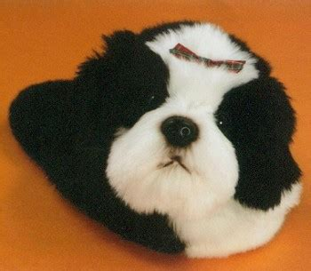 stuffed shih tzu shih tzu stuffed animal slippers