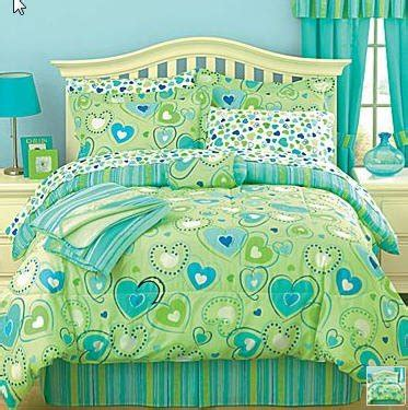 lime green bed in a bag sets cheap lime green blue hearts comforter set bed in