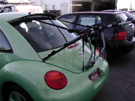 trunk mounted bike rack recommendation    volkswagen  beetle turbo sport etrailercom